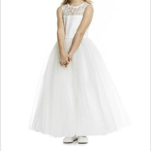 Dessy group flower girl dress (marquis lace)